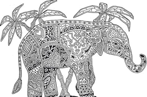 Free Coloring Pages Of Paisley Elephant