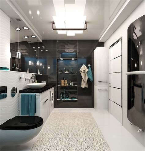 Black And White Bathroom Design by 20 Sleek Ideas For Modern Black And White Bathrooms Home