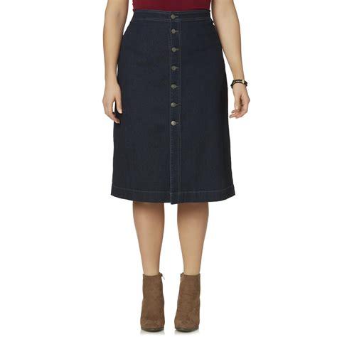 basic editions s plus denim skirt