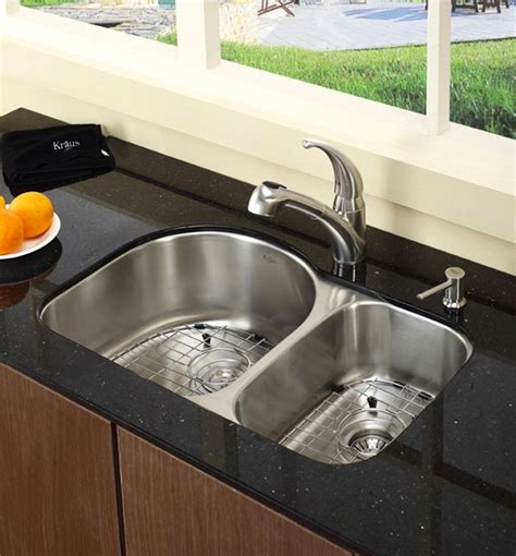 Kitchen Faucet Kohler by 15 Functional Double Basin Kitchen Sink Home Design Lover