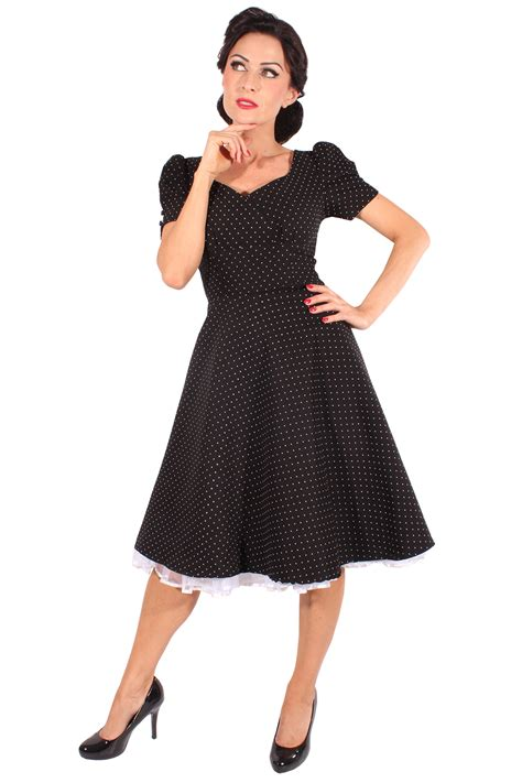 swing kleid polka dots 50s rockabilly swing kleid polka dots puff 228 rmel