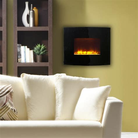 electric in wall fireplace northwest 35 in stainless steel electric fireplace with wall mount and remote in silver 80