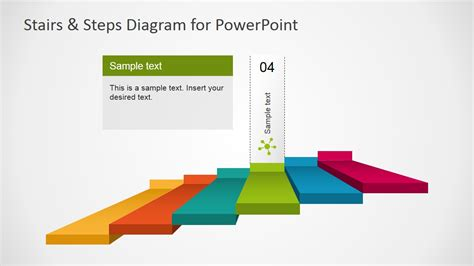 Stairs Steps Diagram For Powerpoint Slidemodel Chart Template Powerpoint