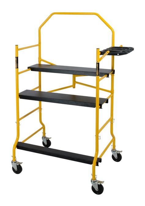 metaltech 5 folding scaffold work platform 900lbs