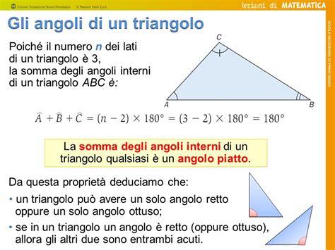 somma degli angoli interni di un triangolo i triangoli ppt scaricare
