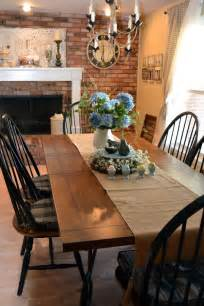 Farm Table Dining Room Set Brown And Light Black Chairs Farmhouse Table