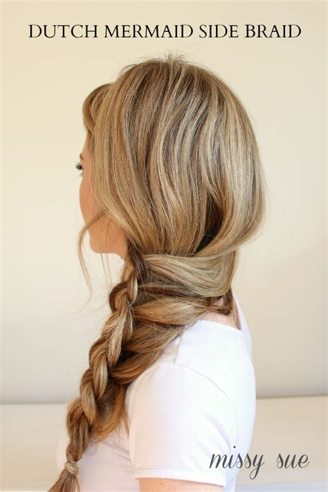 hairstyles for straight hair with braids step by step braid 8 dutch mermaid side braid