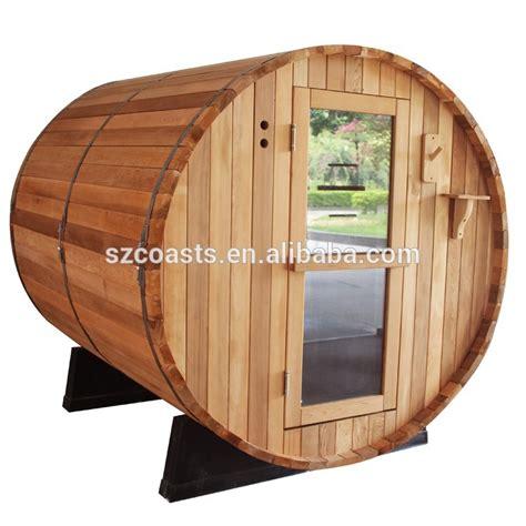comfortable enjoy barrel steam sauna room outdoor portable