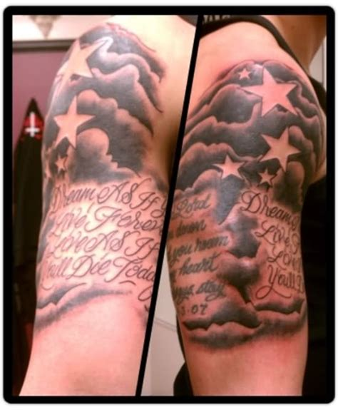 cloud shading tattoo 21 awesome cloud shading tattoos