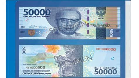 Seri Cantik Uang 50 Ribu inilah penakan 7 bunga di uang baru rupiah tribunnews