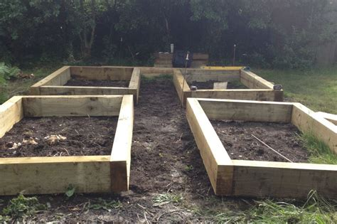 Raised Beds Railway Sleepers by Four Raised Beds From New Eco Pine Railway Sleepers