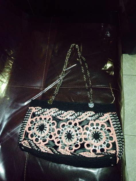 bolsas tejidas con fichas bolsa de anillas con hilasa bolsas tejidas con fichas de