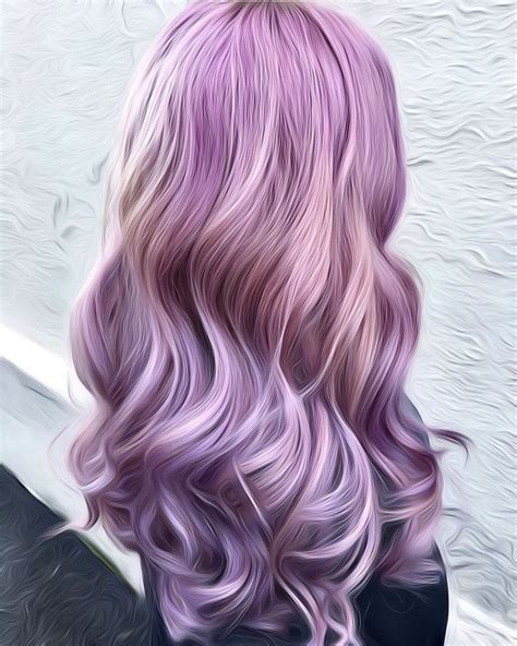 dusty hair color dusty lilac hair and dusty hair color with wavy