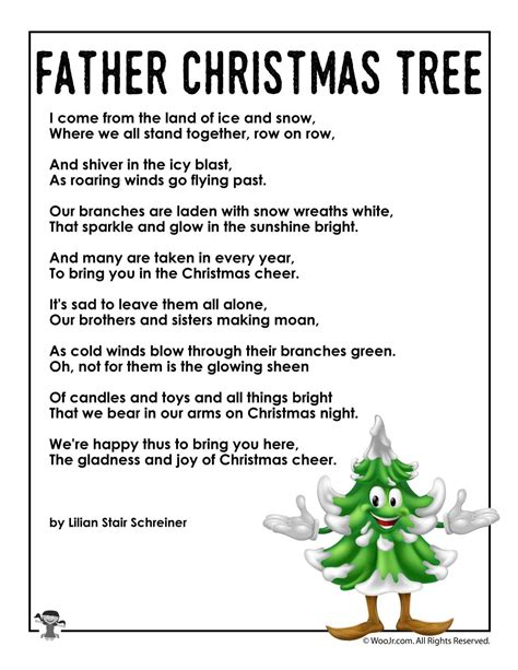 poems about christmas trees for preschoolers mypoems co
