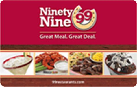 Restaurant Com Gift Card Balance - ninety nine restaurants gift card balance check