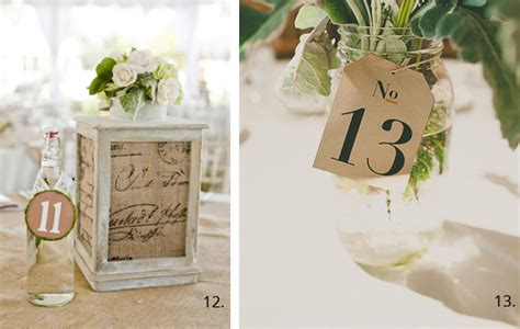 Wedding Table Numbers by Wedding Table Number Ideas