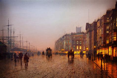 Liverpool Duvet John Atkinson Grimshaw Liverpool From Wapping 1885