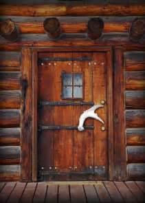 Log Cabin Front Doors Cabin Door Interesting Antler Handle Rustic Decor Ideas