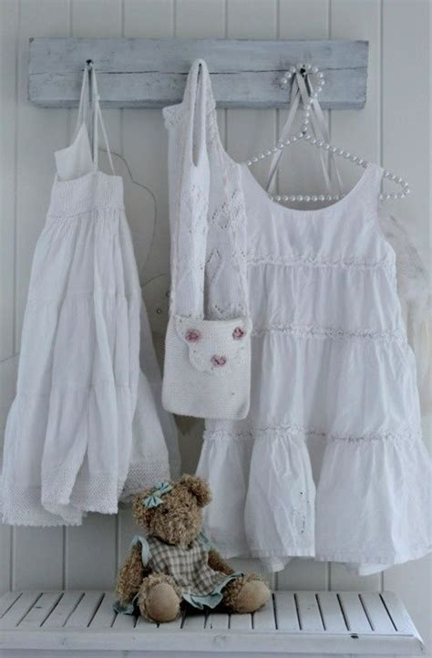 Dress Blanc Brukat lovely shabby room brocante in
