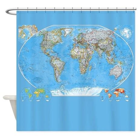 World Map Shower Curtains Shower Curtains Fabric Shower Curtains Bathroom Shower Curtain Liner