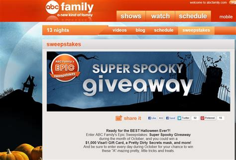 Abc Family Sweepstakes - abc family s epic monthly sweepstakes