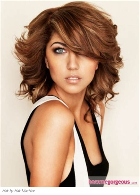 curly hairstyles machine wavy hair machine hairs picture gallery