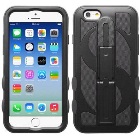 apple iphone 6 6s mybat dollar hybrid protector cover with stand walmart