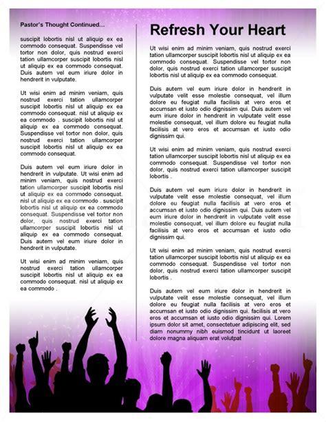 celebration church newsletter template template