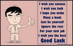 funny good luck quotes for new job