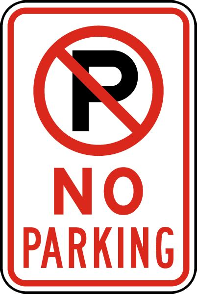 no parking signs template pin printable no parking sign on