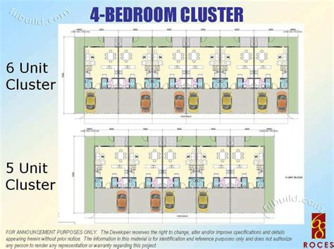 cluster house floor plan real estate home lot sale at 4 bedroom cluster floor plan