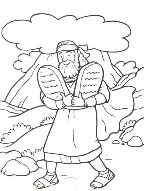 printable moses coloring pages coloring me