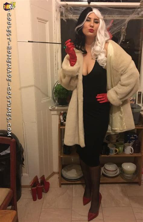 coolest homemade sexy cruella de vil costume  halloween