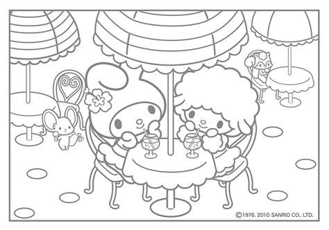 my melody coloring pages kawaii nurie kawaii