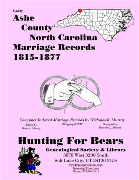 Carolina Marriage Records Early Ashe County Carolina Marriage Records 1815 1877 Open Library