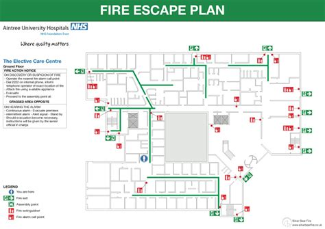 fire emergency evacuation plan and the procedure picture
