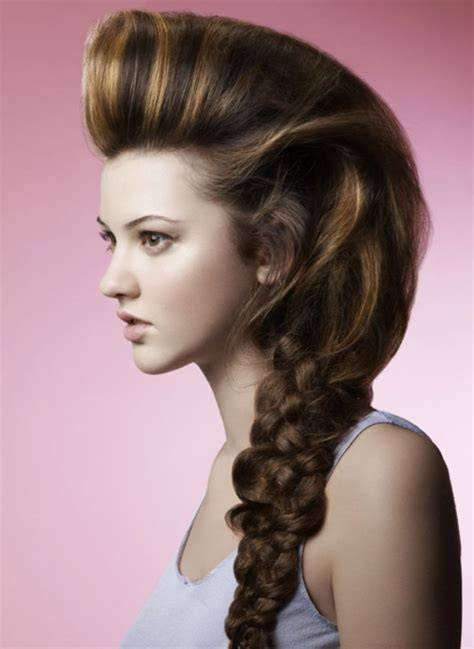 photo gallery of braided hairstyles ponytail braid hairstyles elle hairstyles