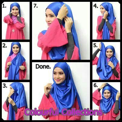 tutorial hijab pashmina satin casual 1000 images about casual hijab style on pinterest