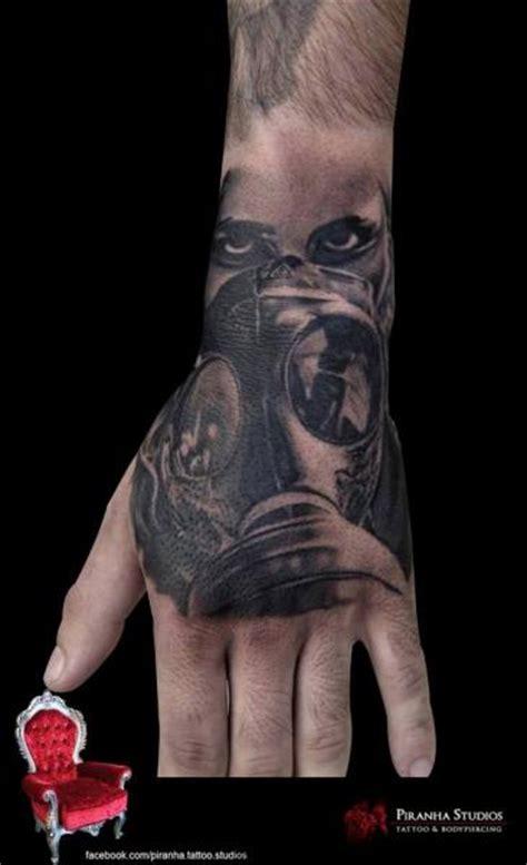 tattoo hand mask realistic hand gas mask tattoo by piranha tattoo supplies