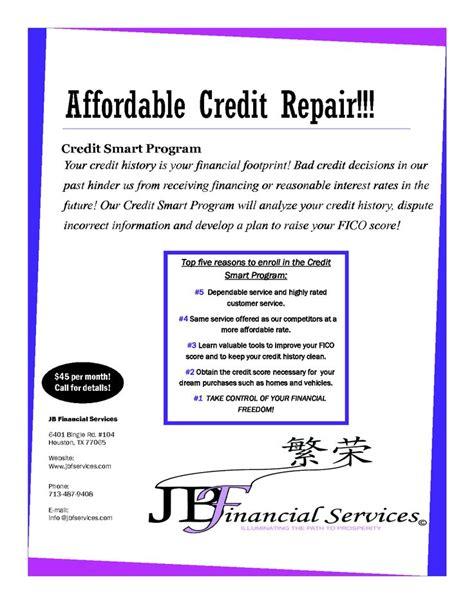 Credit Repair Flyer Template