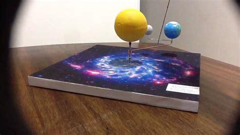 como hacer una maqueta del ecplise solar y lunar maqueta sistema sol tierra luna youtube