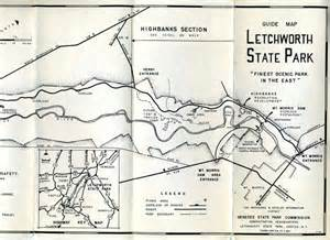 Ny State Parks Map by State Park Guide Maps Castile New York 1963 Letchworth