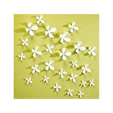 Design Wall Stickers deco murale 10 fleurs blanches en 3d par umbra chez pure