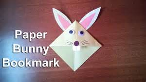 How To Make A Paper Rabbit - how to make a paper bunny rabbit bookmark