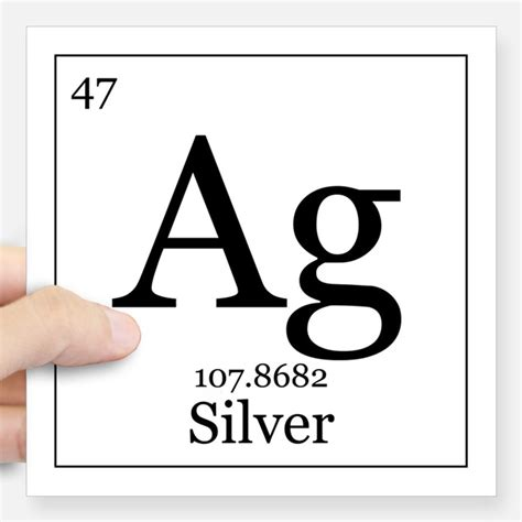 Silver Element periodic table silver hobbies gift ideas periodic table