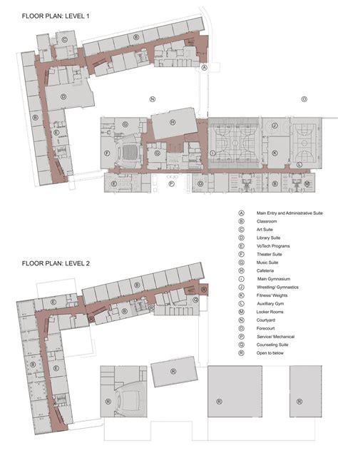 beautiful elementary school floor plans with protsman gallery of golden high school nac architecture 15