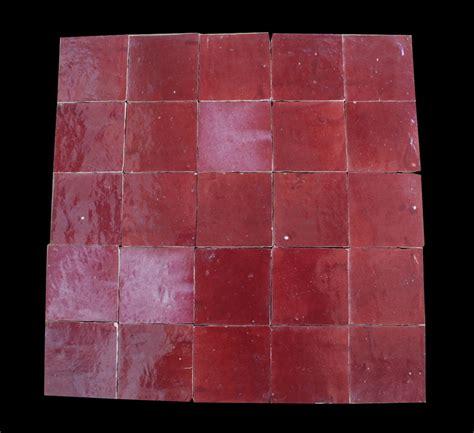 zellige weinrot 10x10x1 2cm wandfliesen rot kacheln tonfliesen - Fliesen Weinrot