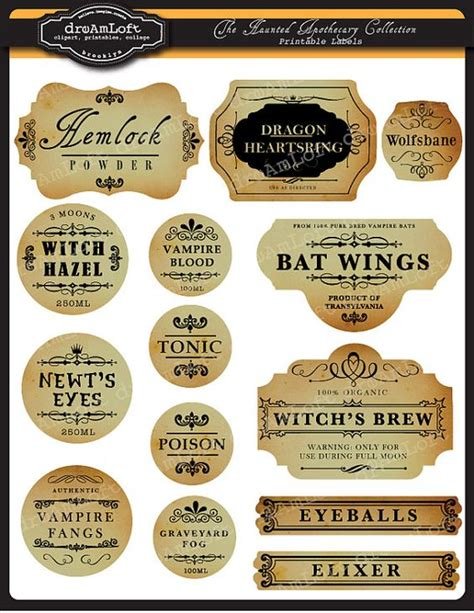 harry potter potion labels templates printable frames and labels for personal and