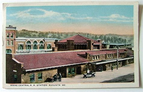 1919 postcard the maine central railroad station