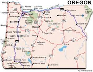 city map oregon oregon travel guide planetware